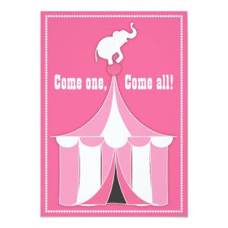 Festa de aniversário da tenda do circus & da convite 12.7 x 17.78cm