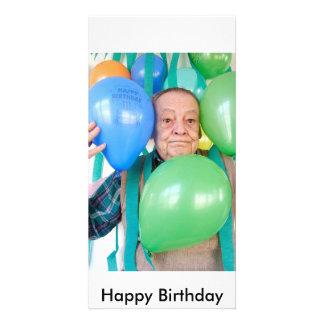 Festa de aniversário de 3061 surpresas para ederly cartão com foto