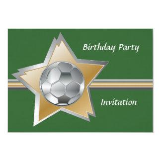 Festa de aniversário de linho da estrela de convite