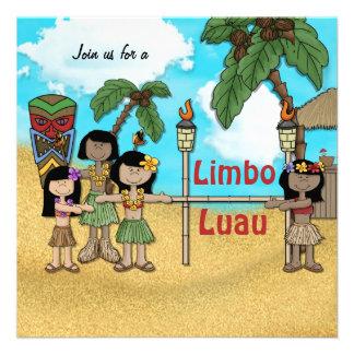 Festa de aniversário de Luau do limbo