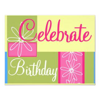 Festa de aniversario de meninas adolescente convite 10.79 x 13.97cm