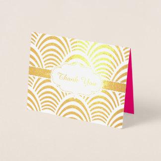 Festa de aniversario de meninas de Chevron do rosa Cartão Metalizado
