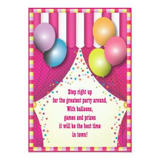 Festa de aniversario de meninas do carnaval da convite 12.7 x 17.78cm