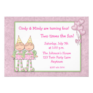 Festa de aniversario de meninas gêmea