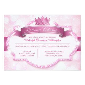 Festa de aniversario de meninas real da princesa convite personalizado