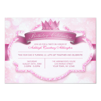 Festa de aniversario de meninas real da princesa convite 11.30 x 15.87cm