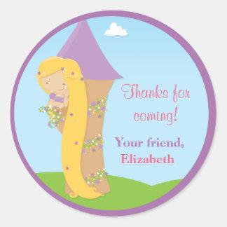 Festa de aniversário de Rapunzel Adesivos Em Formato Redondos