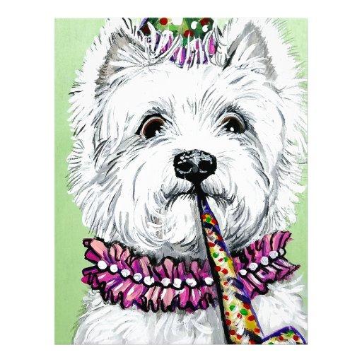 Festa de aniversário de Westie Papel De Carta