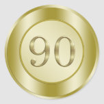 festa de aniversário do 90 adesivos redondos