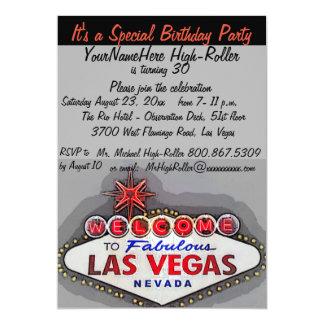 Festa de aniversário do adulto de Las Vegas Convite 12.7 X 17.78cm