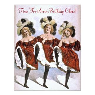 Festa de aniversário do aniversário do dançarino convites personalizado