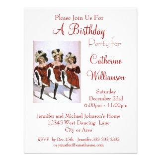 Festa de aniversário do aniversário do dançarino d convites personalizado