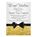 Festa de aniversário do arco 50th do Faísca-olhar  Convites Personalizados