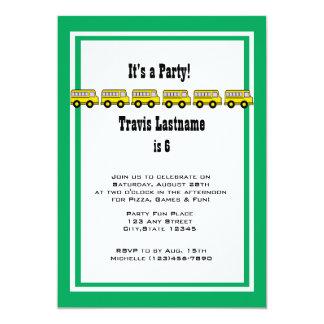 Festa de aniversário do auto escolar convite 12.7 x 17.78cm