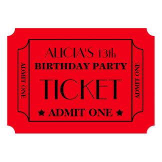 Festa de aniversário do bilhete do filme convite 12.7 x 17.78cm