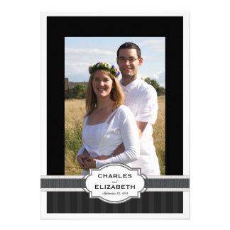 Festa de aniversário do casamento da foto chique d convites personalizado