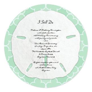 Festa de aniversário do casamento do dólar de convite quadrado 13.35 x 13.35cm
