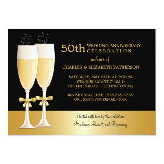 Festa de aniversário do casamento Sparkling Convite 12.7 X 17.78cm