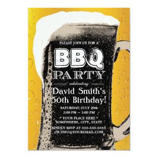 Festa de aniversário do CHURRASCO 50th da cerveja Convite 12.7 X 17.78cm