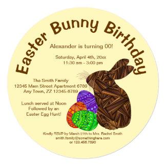 Festa de aniversário do coelhinho da Páscoa do Convites Personalizado