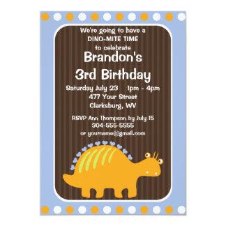 Festa de aniversário do dinossauro convite 12.7 x 17.78cm