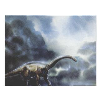 Festa de aniversário do dinossauro do Barapasaurus Convite