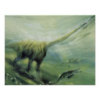 Festa de aniversário do dinossauro do Brachiosauru Convite Personalizados