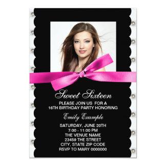 Festa de aniversário do doce dezesseis da foto do convite