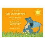 Festa de aniversário do dragão convite personalizado