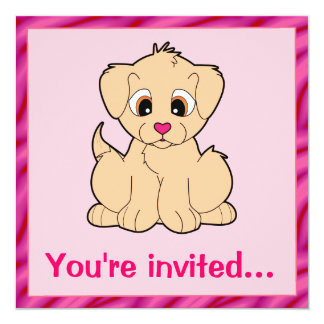 Festa de aniversário do filhote de cachorro do convite
