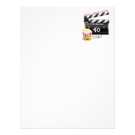 Festa de aniversário do filme do aniversário de 40 papel de carta