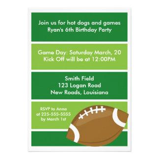Festa de aniversário do futebol convite personalizado