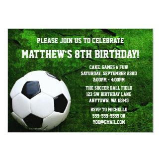 Festa de aniversário do futebol convite 12.7 x 17.78cm