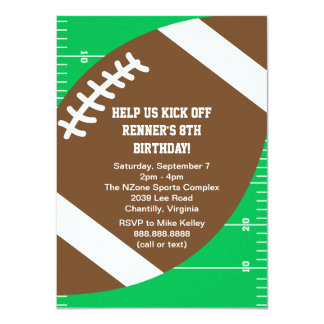 Festa de aniversário do futebol dos esportes convite 11.30 x 15.87cm
