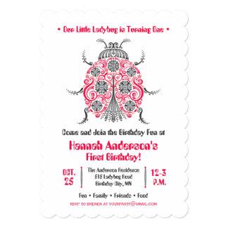 Festa de aniversário do joaninha • Elegante & Convite 12.7 X 17.78cm