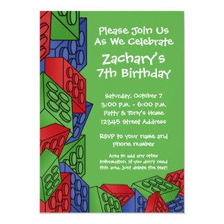 Festa de aniversário do menino - blocos de convite 12.7 x 17.78cm