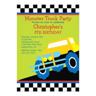 Festa de aniversário do monster truck para meninos