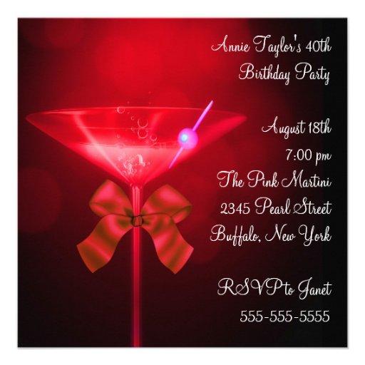 Festa de aniversário do número da mulher vermelha  convites