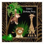 Festa de aniversário do safari de selva dos convite