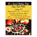 Festa de aniversário do tema do casino de Las Convites Personalizado