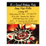 Festa de aniversário do tema do casino de Las Vega Convites Personalizado