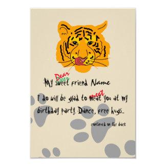 Festa de aniversário do tigre customizável convite 8.89 x 12.7cm