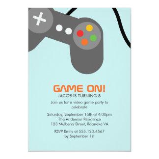 Festa de aniversário do video games convite 12.7 x 17.78cm