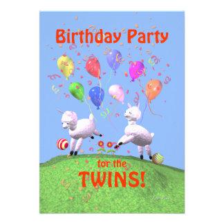 Festa de aniversário dos cordeiros para gêmeos