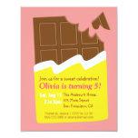 Festa de aniversário dos doces do bar de chocolate convite 10.79 x 13.97cm