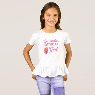 Festa de aniversário dos termas da menina camiseta