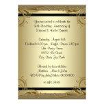 Festa de aniversário elegante do casamento do ouro convites