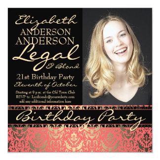 Festa de aniversário elegante e engraçada legal e convites personalizados