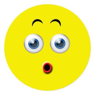 Festa de aniversário Emoji da surpresa Convite Quadrado 13.35 X 13.35cm
