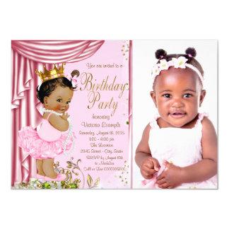 Festa de aniversário étnica da princesa Tutu Convite 11.30 X 15.87cm